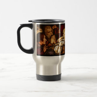 Taza de café del navidad con la cita de G.K.