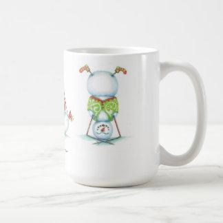 Taza de café del navidad del muñeco de nieve de la