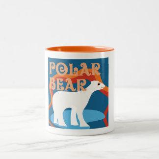 Taza de café del oso polar del diseñador