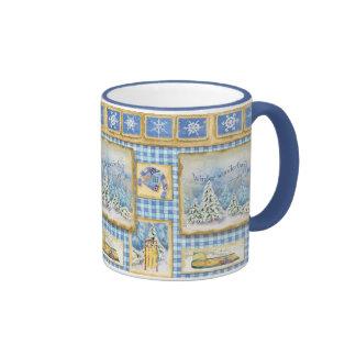 Taza de café del país de la diversión de la nieve