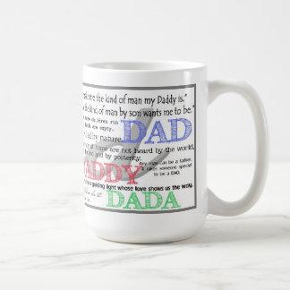 Taza de café del papá con citas