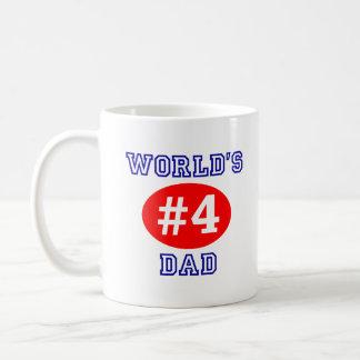 Taza de café del papá del #4 del mundo