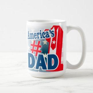 Taza de café del papá del número 1 de América