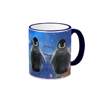 Taza de café del partidario de la fauna del PINGÜI