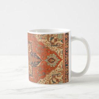 Taza de café del paseo de la alfombra de vuelo