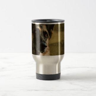Taza de café del pastor alemán