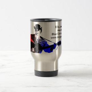 Taza de café del patriota del cuello azul del lago