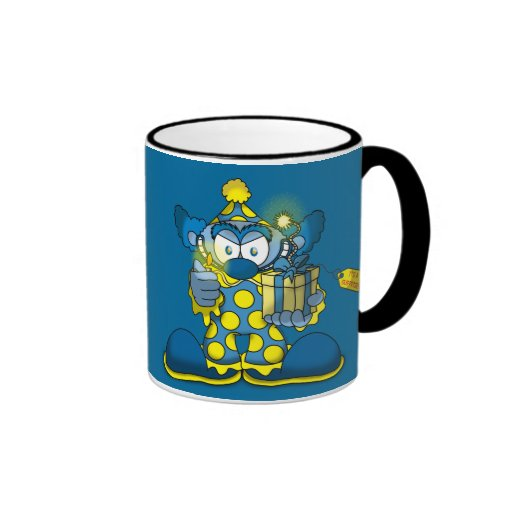 Taza de café del payaso de Jokey