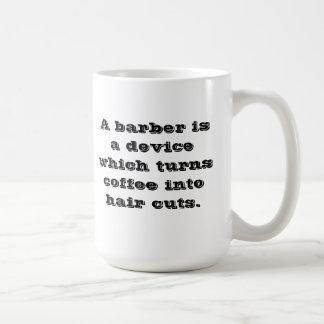 Taza de café del peluquero