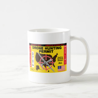 Taza de café del permiso de la caza del abejón