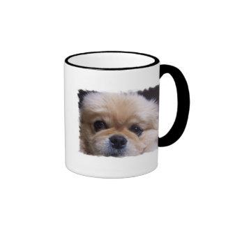 Taza de café del perrito de Pekingese