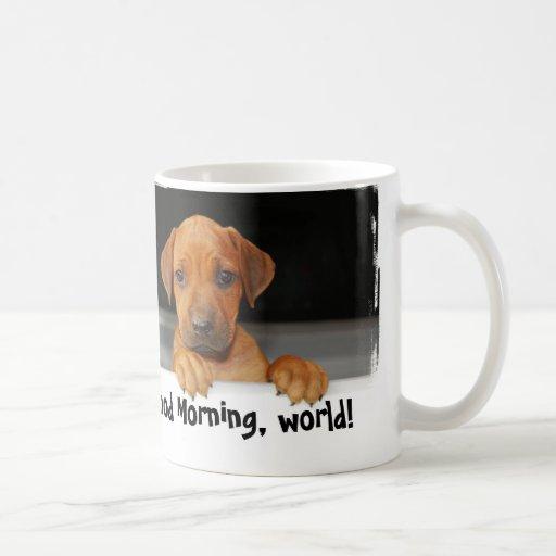 Taza de café del perrito de Rhodesian Ridgeback