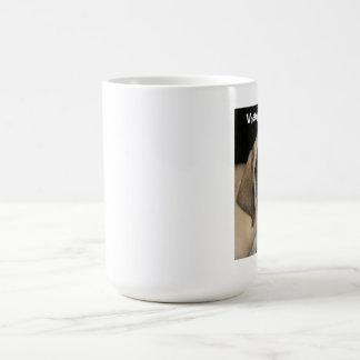 Taza de café del perrito del mastín