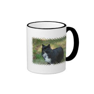 Taza de café del perro de Pomeranian