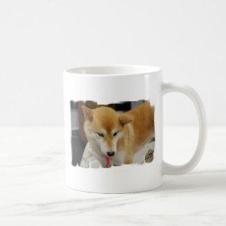 Taza de café del perro de Shiba Inu