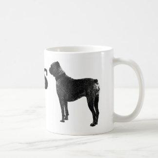 Taza de café del perro del boxeador