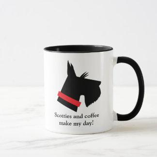 Taza de café del perro del escocés