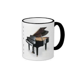 Taza de café del piano
