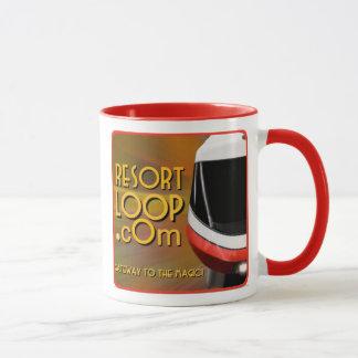 taza de café del podcast de ResortLoop.com