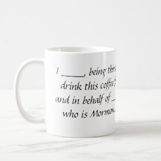 Taza de café del poder