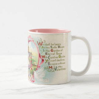 Taza de café del poema de la tarjeta del día de Sa