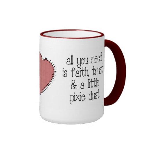 Taza de café del polvo del duendecillo