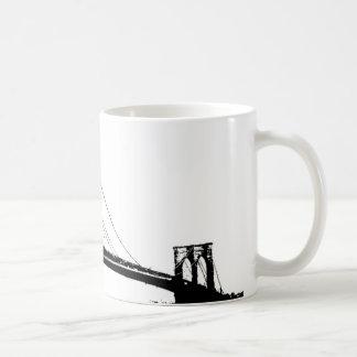 Taza de café del puente de Brooklyn del vintage