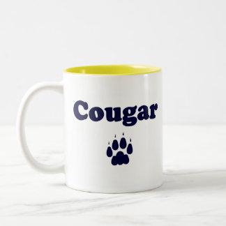 Taza de café del puma