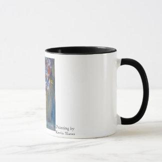 Taza de café del ramo del verano