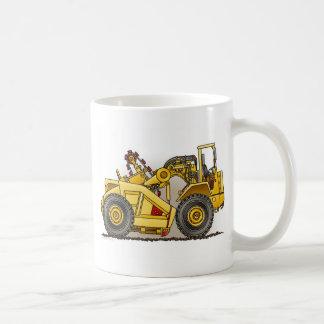Taza de café del raspador de la excavadora