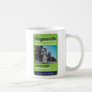 Taza de café del rastro de la torre de Hogansville