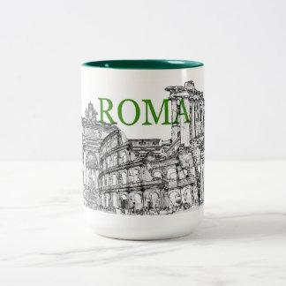 taza de café del recuerdo del viaje de Roma