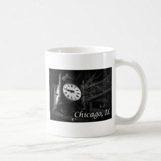 Taza de café del reloj de Chicago