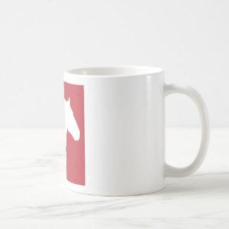 Taza de café del rescate del caballo de proyecto