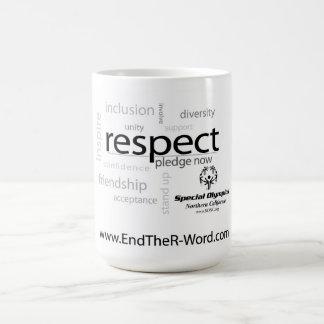 Taza de café del respecto