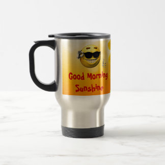 Taza de café del resplandor solar