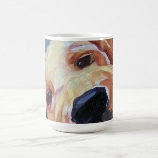 Taza de café del retrato del mascota del perrito