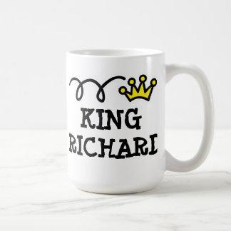 Taza de café del rey con nombre personalizado