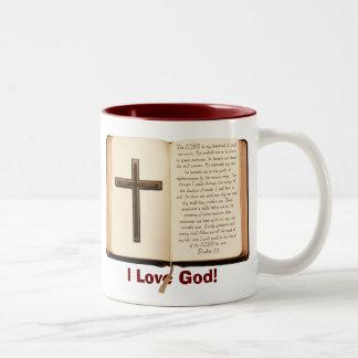 Taza de café del salmo 23