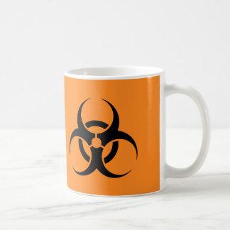 Taza de café del símbolo del Biohazard