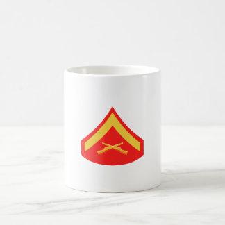 Taza de café del soldado de primera clase del USMC