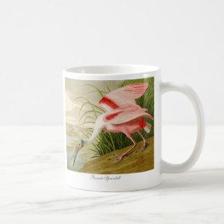 Taza de café del Spoonbill rosado