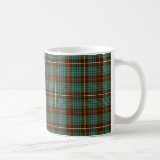 Taza de café del tartán de la caza de Fraser del c