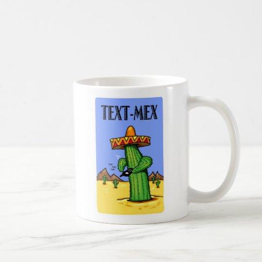 Taza de café del Texto-Mex