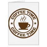 taza de café del tiempo del café tarjeta
