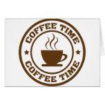 taza de café del tiempo del café tarjetas