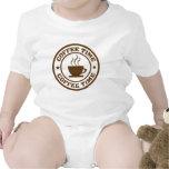 taza de café del tiempo del café trajes de bebé