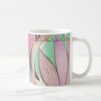 """Taza de café """"del tigre de la luna rosada del rosa"""