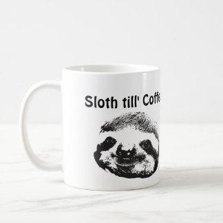 Taza de café del till de la pereza