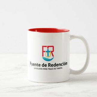 Taza de café del tono de Fuente de Redencion dos